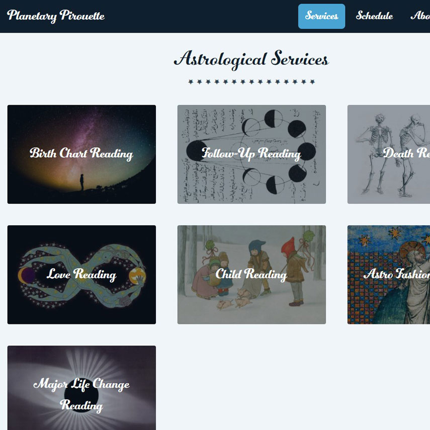 Planetary Pirouette website